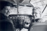 Lois Truchinski (left) with copilot Pat Weir