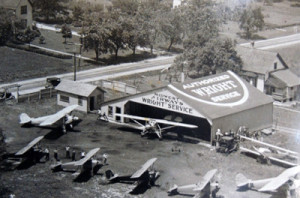 Midwest Airways hangar at Milwaukee County Airport ca 1929
