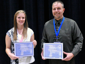 2013 Scholarship Recipients Heather Behrent and Rich Conrad