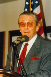 Scott Crossfield, featured speaker,  1986 WAHF Induction Ceremony