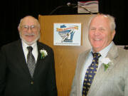 WAHF inductees Archie Henkelmann (left) and Jerry Mehlhaff