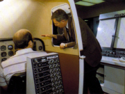Bob Clarke provides simulator training