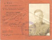 Conant's AEF pilot card from WW I