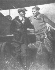 Rellis Conant (left) with skydiver and friend A. Silvers