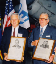 George Cudahy (left) and Harry Orlady during their induction