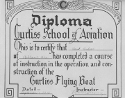 Paul Culver's flying diploma dated 1916