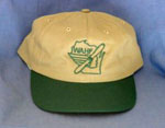 Baseball cap with green trim WAHF in logo