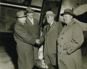 Inaugural flight of Wisconsin Central Airlines Minneapolis to Duluth service February 10, 1948