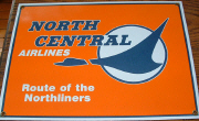 Marketing sign for North Central Airlines