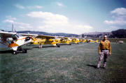 Piper J-3 Cub Fly in Lodi Wisconsin hosted by Dick Knutson ca1970