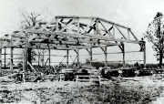Hangar construction at the Larson brothers airport