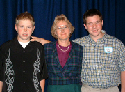 Maggie Flood and her sons