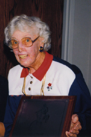 Libby Parod at her 1995 induction