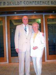 Bob and Letty Skuldt at June 2004 ceremony