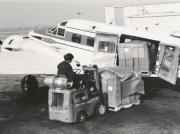 Blackhawk Airways Beech 18 being loaded with GM frieght