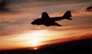 Grumman A-6 Intruder at sunset