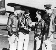 Aircraft 13 crew briefing Knobloch at left