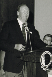 Fritz Wolf at his 1989 WAHF induction